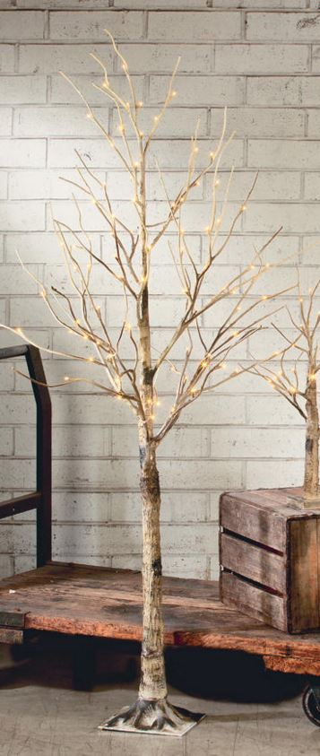 Display Tree - Large Lighted Brown Birch